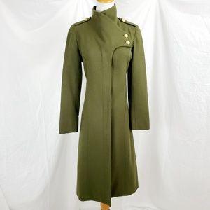 Lauren Moffat S Military Coat Jacket Olive Green